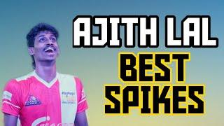 Ajith lal Best spikes, part 3,best volleyball player in India