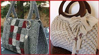 Top Class And Stylish Hand Crochet Bags Designs Collection For Stylish Women