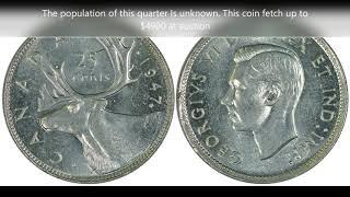 Top 10 Canadian Quarters Worth Money!!!