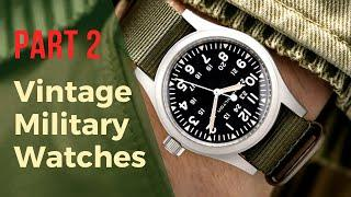 Vintage Military Watches Reborn PART 2 – Reissues of Divers, Field Watches & Pilot Watches
