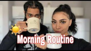 COUPLE'S MORNING ROUTINE DURING LOCKDOWN