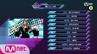 What are the TOP10 Songs in 1st week of August? M COUNTDOWN 200806 EP.677