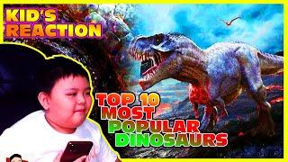 TOP 10 MOST POPULAR DINOSAURS | Kid's Review (Tagalog)