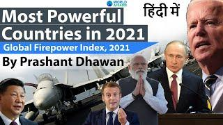 Most Powerful Countries in the world 2021 Global Firepower Index 2021 #UPSC #IAS