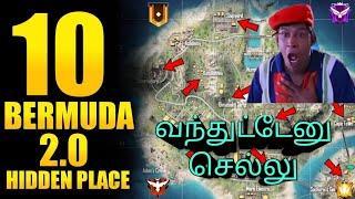 Top 10 Hidden Place In Bermuda Remastered |Free Fire Secret Places In Bermuda 2.0