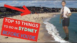 TEN THINGS YOU NEED TO DO IN SYDNEY!! - TOP 10 LIST