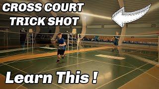 DECEPTIVE CROSS COURT LIFT , badminton trick shot #43