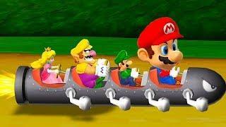 Mario Party 9 All Minigames - Mario vs Luigi vs Peach vs Waluigi (Master CPU)