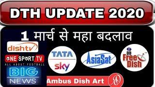 all Dth update news Dd free dish bsnl tata sky asiasat 7 5 Independent tv airtel digital dish sun