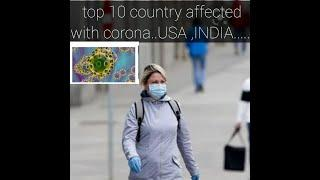 #coronaupdate top 10 country affected with corona