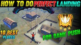 TOP 10 BEST PLACE OF LANDING FOR RANK PUSH FREE FIRE 2021 | ROAD TO GRANDMATER | RANK PUSH FREE FIRE