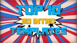Top 10 2D Intro Templates | No Text Templates | After Effects | Sony Vegas | Filmora | Blender |2020