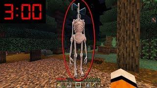 I FOUND SIREN HEAD AT 3AM IN MINECRAFT!!! *HORRIFYING*