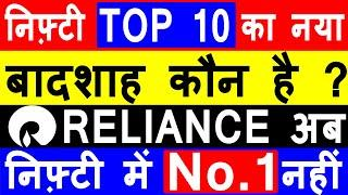 NIFTY TOP 10 SHARES | RELIANCE SHARE LATESE NEWS | NIFTY TOP 10 STOCKS LIST | NIFTY TOP 10 WEIGHTAGE