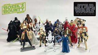 "Every Star Wars The Black Series 3.75"" Figure From 2015 to 2017 Walmart Exclusives Red & Black Boxes"