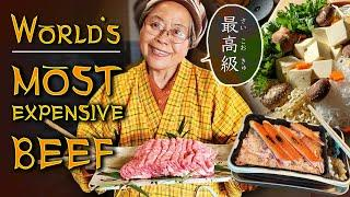 WORLD'S MOST EXPENSIVE BEEF (Matsusaka Wagyu) & ROASTED CRAB Bento Box in Matsusaka Japan