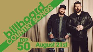 Billboard Country Songs Top 50 (August 21st, 2021)
