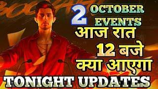 Tonight update in freefire|2 October update in free fire|Tomorrow event in freefire|#Aajraateventff
