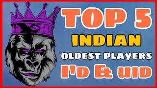 Free Fire || Top 5 Indian Highest Level Players || Free Fire -4G Gamers