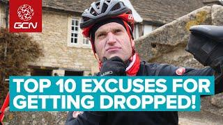 Top 10 Excuses For Being Dropped On A Bike Ride