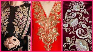 Amazing Top10! Best Zari work Embroiderey Designes // latest fancy embroidery designs 2020/21