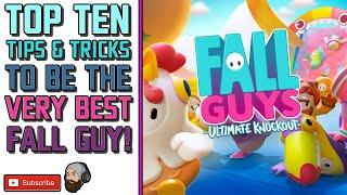 TOP TEN FALL GUYS TIPS // Fall Guys Tricks - How To Win in Fall Guys Ultimate Knockout