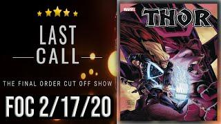 Top 10 Comic Books for Final Order Cut Off 2/17/20