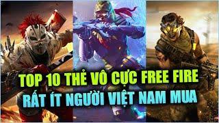 Free Fire | TOP 10 Thẻ Vô Cực Ít Người Mua Nhất Từ Trước Đến Nay Free Fire Việt Nam | Rikaki Gaming