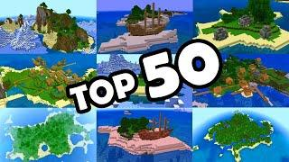 Minecraft Bedrock | TOP 50 BEST SURVIVAL ISLAND SEEDS! (PE, Xbox, PS4, Switch & W10)