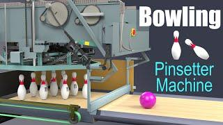 How does a Bowling Pinsetter Machine work? (Brunswick GS-X)