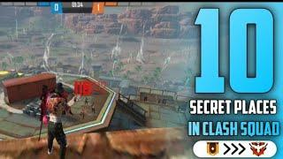 TOP 10 CLASH SQUAD SECRET PLACE FREE FIRE | PART - 1 | FREE FIRE TIPS AND TRICKS || GARENA FREE FIRE