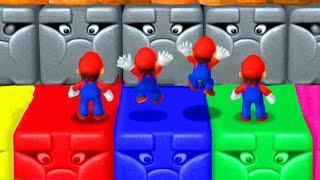 Mario Party 10 Minigames - Mario Vs Luigi Vs Waluigi Vs Daisy (Master Difficulty)