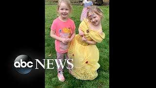 Twin 4-year-olds rescue themselves after father's car crashes l ABC News