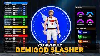 NBA 2K22 DEMIGOD SLASHER BUILD - BEST POINT GUARD BUILD NBA 2K22 - BEST SLASHER BUILD