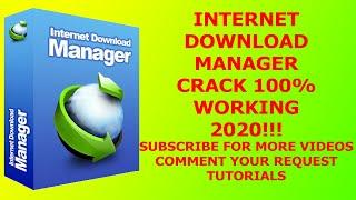 IDM (Internet Download Manager) Crack Free Download 100% Working - Fastest Downloading Tool 2020