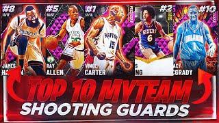 RANKING THE TOP 10 BEST SHOOTING GUARDS IN NBA 2K21 MYTEAM!! NOVEMBER TOP 10 SHOOTING GUARDS LIST!!