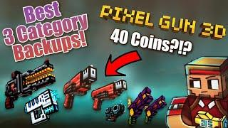 Top 5 Best Backup Weapons for 3 Category Spam in Pixel Gun 3D!