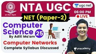 NTA UGC NET 2020 (Paper-2) | Computer Science by Aditi Ma'am | Computer Networks