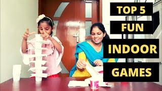 Top 5 fun INDOOR Games for kids | Party games, family games | how to engage kids at home in holidays