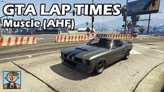 Fastest Muscle Cars (AHF Retesting) - GTA 5 Best Fully Upgraded Cars Lap Time Countdown