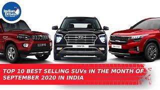 Top 10 Best Selling SUVs In The Month Of September 2020 In India