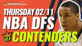 DRAFTKINGS NBA DFS PICKS TODAY | Top 10 ConTENders Thu 2/11 | NBA DFS Simulations