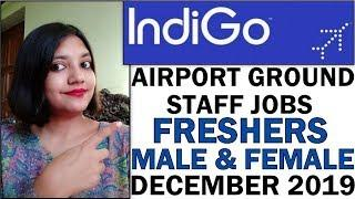 Indigo Airlines Airport Ground Staff Vacancies   Freshers Male and Female Apply Now   December 2019