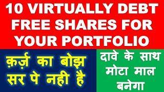 Debt free shares list large cap mid cap small cap | multibagger stocks 2020 India | best shares