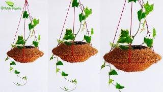Easy & Simple Hanging Planter Making at Home/Hanging Garden Idea/Hanging pot Making//GREEN PLANTS