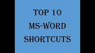 MS WORD SHORTCUT KEYS ADVANCED WITH EXAMPLE | TOP 10 WORD SHORTCUTS