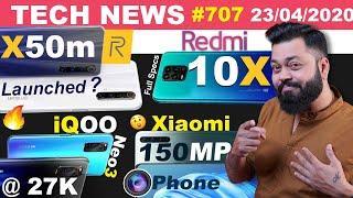 New Redmi 10X Full Specs, iQOO Neo3 @ 27K, Xiaomi 150MP Phone, realme X50m 5G, Moto Edge+- #TTN707