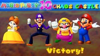 Mario Party 10 Chaos Castle (Mario Party Mode) #11 Waluigi vs Daisy vs Mario vs Wario
