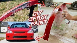 Spray Painting a Bumper LIP for Under $100 with PRO Results!   Honda Civic Project