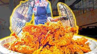 The ULTIMATE Giant SEAFOOD Fry!!! Rare Malay Village Food + BEST Street Food Tour of Terengganu!!!